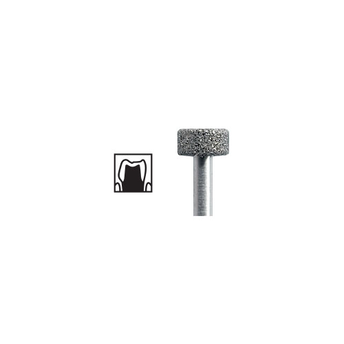 NTI Wheel Diamond Burs FG 5pcs – ISO No 820 - Picture 1