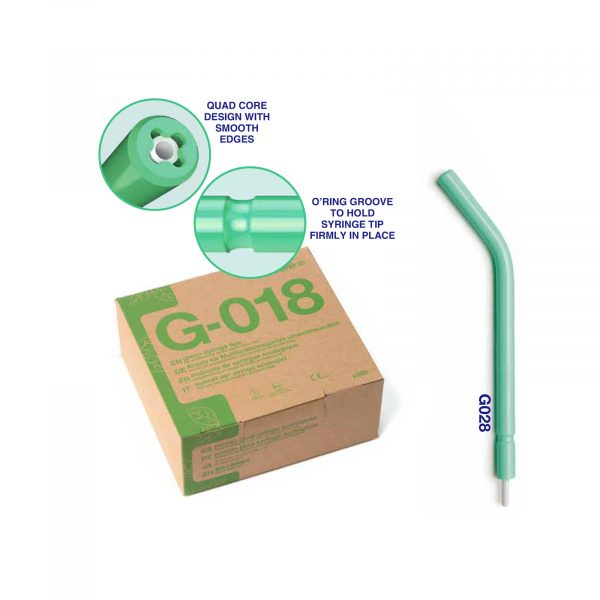ID 24437 – Greenline Disposable 'a' Air-Water Syringe Tips Short Euro Type